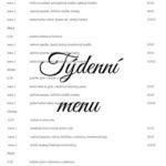 Tydenní menu